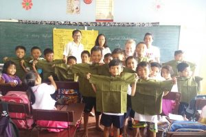 Donating Uniforms at Oslob Elementary School!